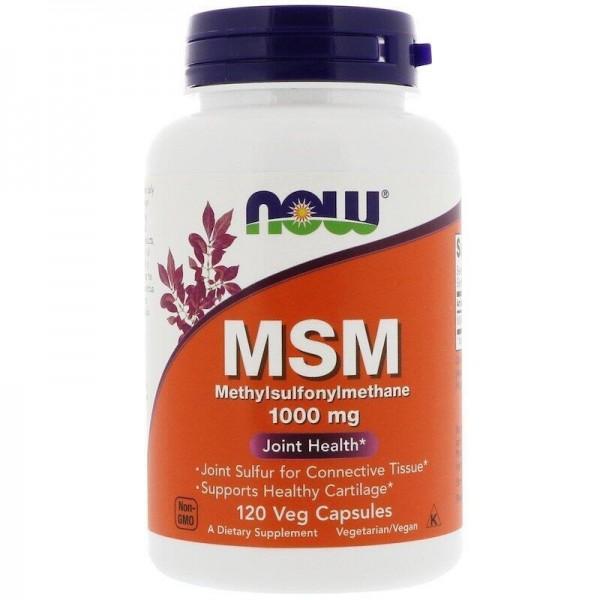 Метилсульфонілметан, MSM, Now Foods, 1000 мг, 120 капсул