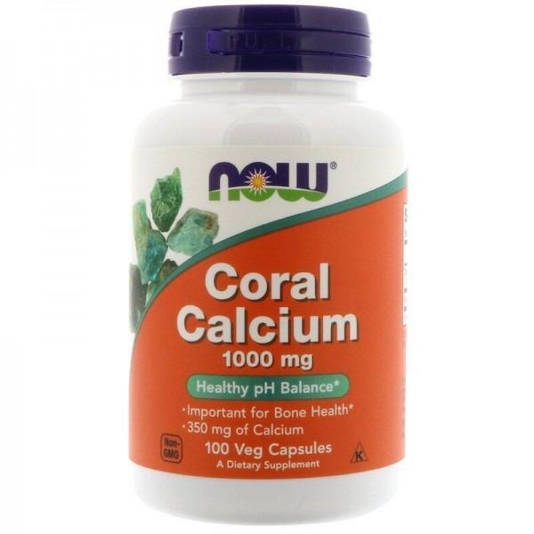 Кораловий кальцій, Coral Calcium, Now Foods, 1000 мг, 100 капсул