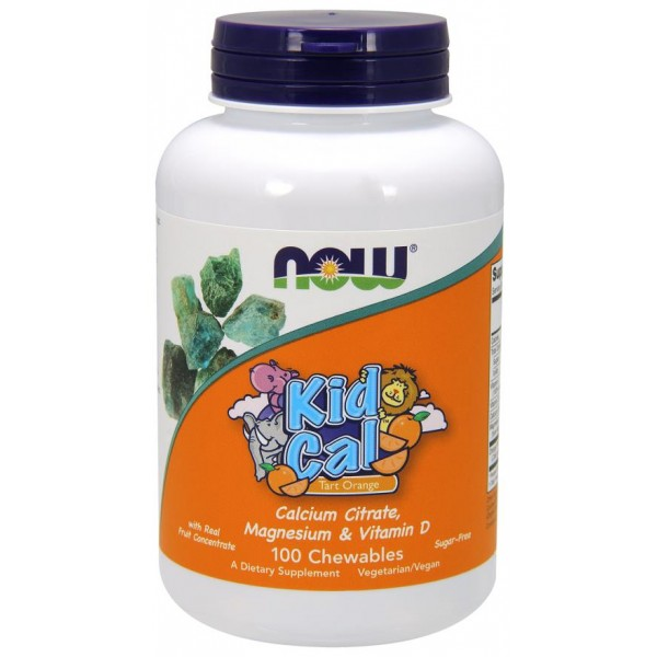Жувальний кальцій, Kid Cal, Now Foods, 100 таблеток