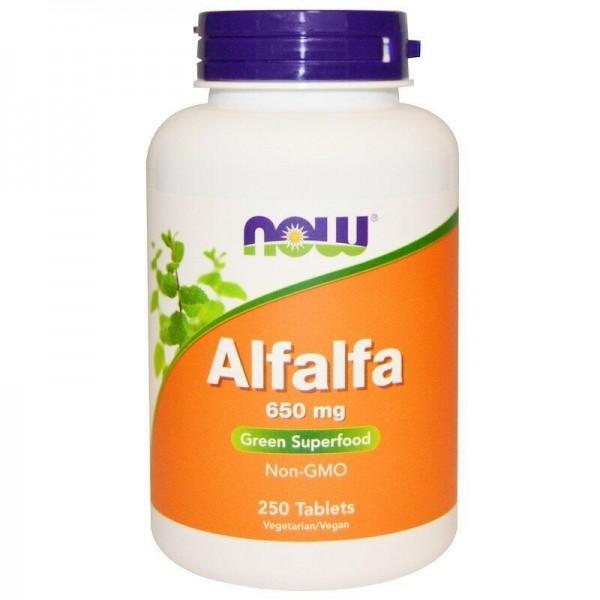 Альфальфа, Alfalfa, Now Foods, 650 мг, 250 таблеток