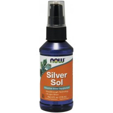 Гидрозоль срібла спрей, колоїдне срібло, Silver Sol, Now Foods, 118 мл
