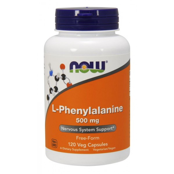Фенілаланін, L-Phenylalanine, Now Foods, 500 мг, 120 капсул