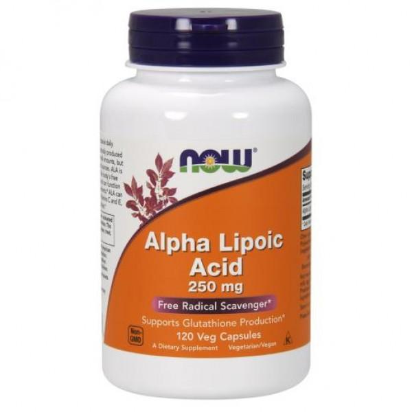 Альфа-ліпоєва кислота, Alpha Lipoic Acid, Now Foods, 250 мг, 120 капсул