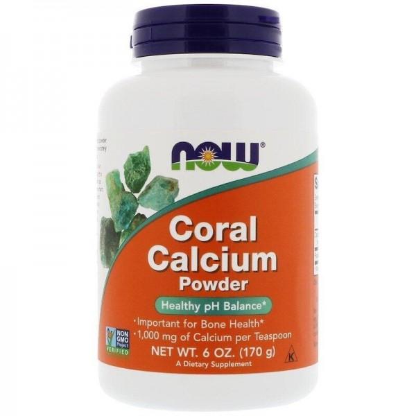 Кораловий кальцій, Coral Calcium, Now Foods, 170 г