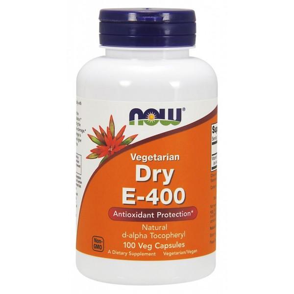 Вітамін Е сухий, Dry E-400, Now Foods, 400 МО, 100 капсул