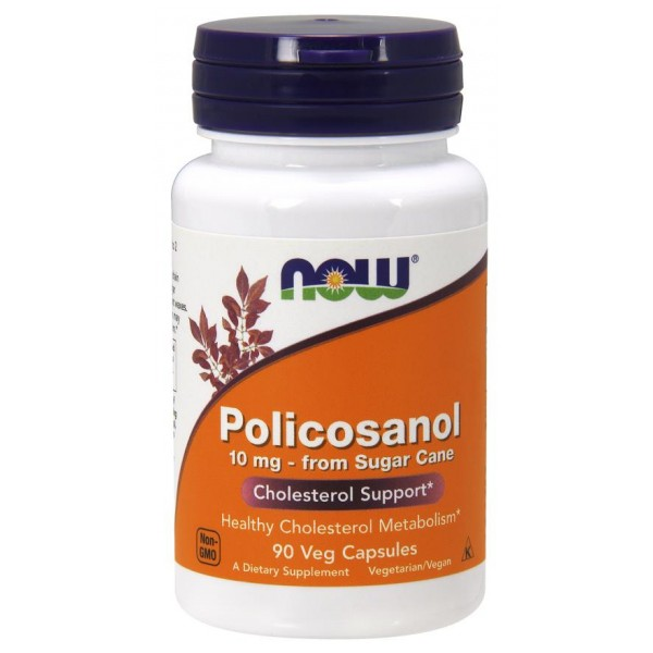 Поликозанол (Policosanol), Now Foods, 10 мг, 90 капсул