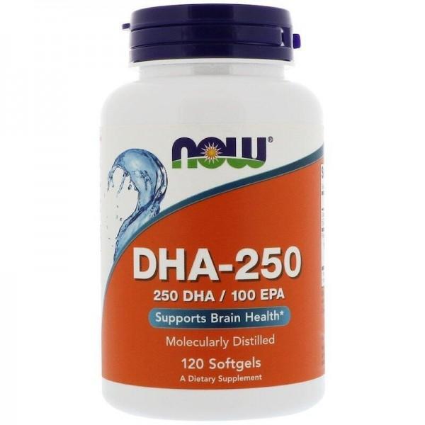 Риб'ячий жир, DHA-250, Now Foods, 120 капсул