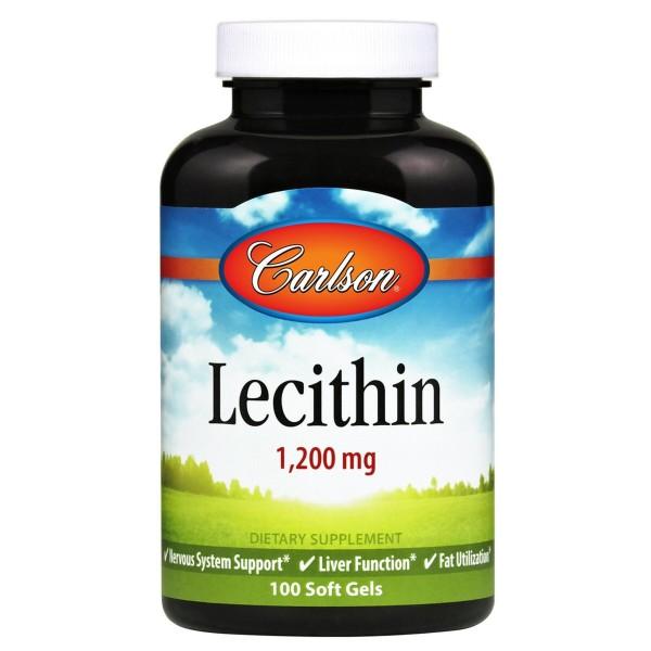 Лецитин, Lecithin, Carlson Labs, 1200 мг, 100 капсул