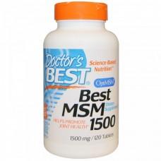Метилсульфонілметан, МСМ, MSM, Doctor's Best, 1500 мг, 120 таблеток