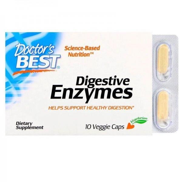 Травні ферменти, Digestive Enzymes, Doctor's Best, 10 капсул