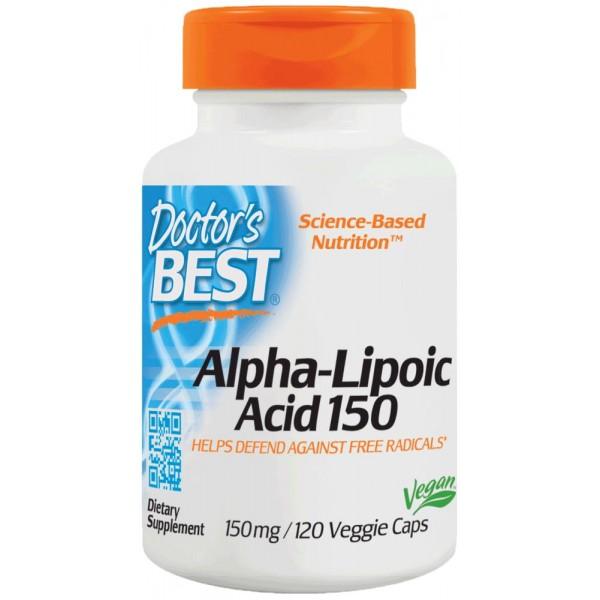 Альфа-ліпоєва кислота, Alpha Lipoic Acid, Doctor's Best, 150 мг, 120 капсул