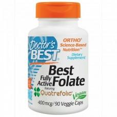 Фолат, Folate, Doctor's Best, 400 мкг, 90 капсул