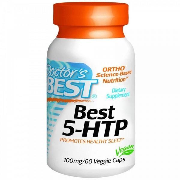 5-HTP, 5-гідрокси L-триптофан, Doctor's Best, 100 мг, 60 капсул