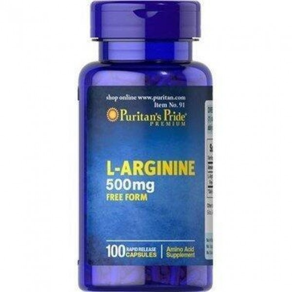 Л-карнітин, L-Arginine, Puritan's Pride, 500 мг, 100 капсул