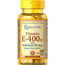 Вітамін Е, Vitamin E, Puritan's Pride, 400 МО, 50 гелевих капсул