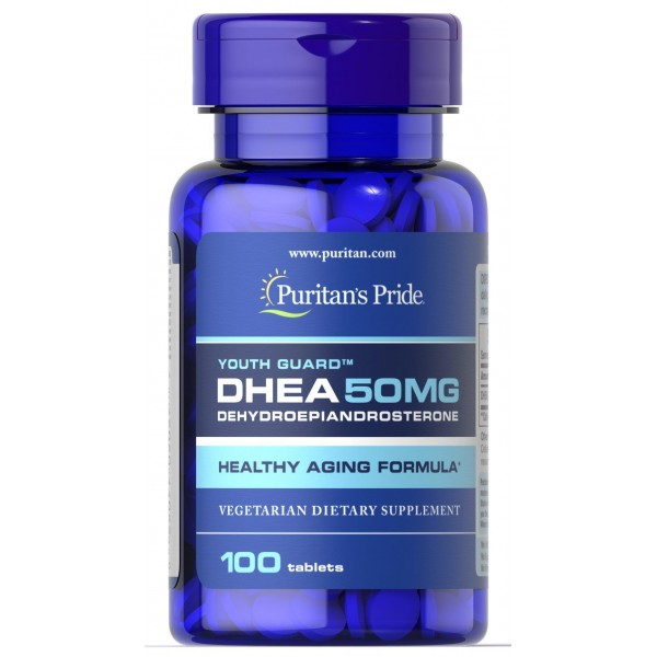 ДГЕА, Дегідроепіандростерон, DHEA, Puritan's Pride, 50 мг, 100 таблеток