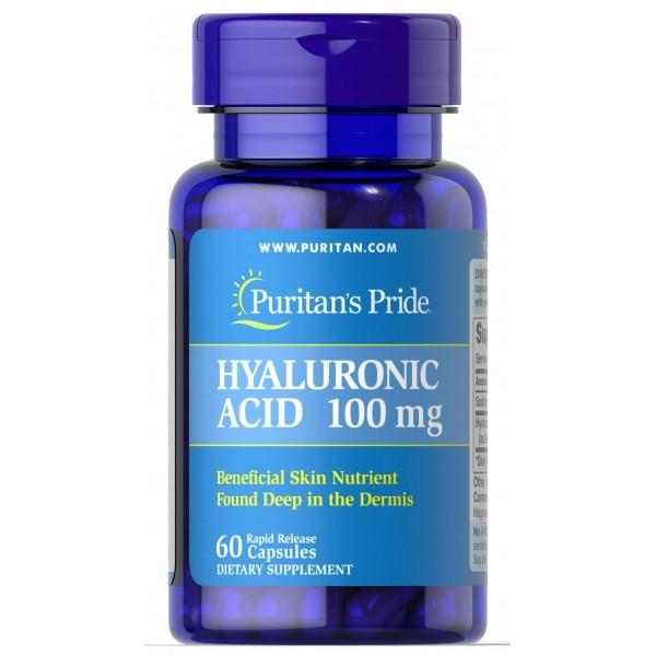 Гіалуронова кислота, Hyaluronic Acid, Puritan's Pride, 100 мг, 60 капсул