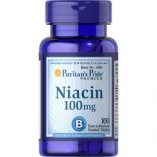 Ніацин, Niacin, Puritan's Pride, 100 мг, 100 таблеток
