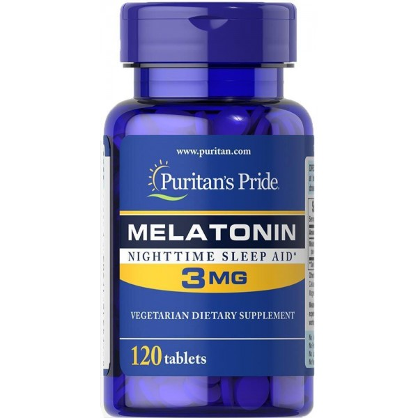 Мелатонін, Melatonin, Puritan's Pride, 3 мг, 240 таблеток