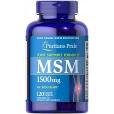 МСМ, Метилсульфонілметан, MSM, Puritan's Pride, 1500 mg, 120 капсул