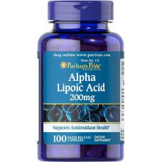Альфа-ліпоєва кислота, Alpha Lipoic Acid, Puritan's Pride, 200 мг, 100 капсул