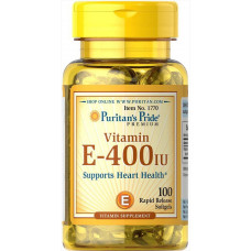 Вітамін Е, Vitamin E, Puritan's Pride, 400 МО, 100 гелевих капсул
