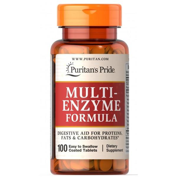 Ензими, Multi Enzyme, Puritan's Pride, 100 таблеток