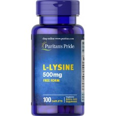 Лізин, L-Lysine, Puritan's Pride, 500 мг, 100 капсул