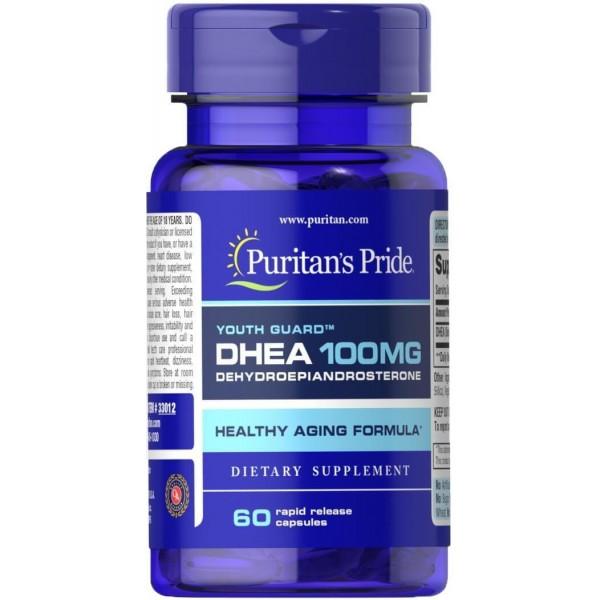 ДГЕА, DHEA, Puritan's Pride, 100 мг, 60 гелевих капсул
