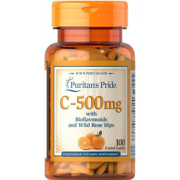 Вітамін С з біофлавоноїдами, Vitamin C, Puritan's Pride, цитрус, 500 мг, 100 капсул
