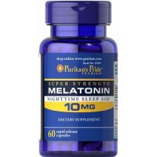 Мелатонін, Melatonin, Puritan's Pride, 10 мг, 60 капсул