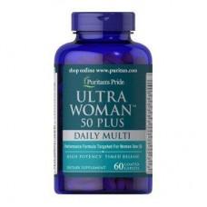 Мультивітаміни для жінок 50+, Ultra Woman™ 50 Plus Multi-Vitamin, Puritan's Pride, 120 капсул