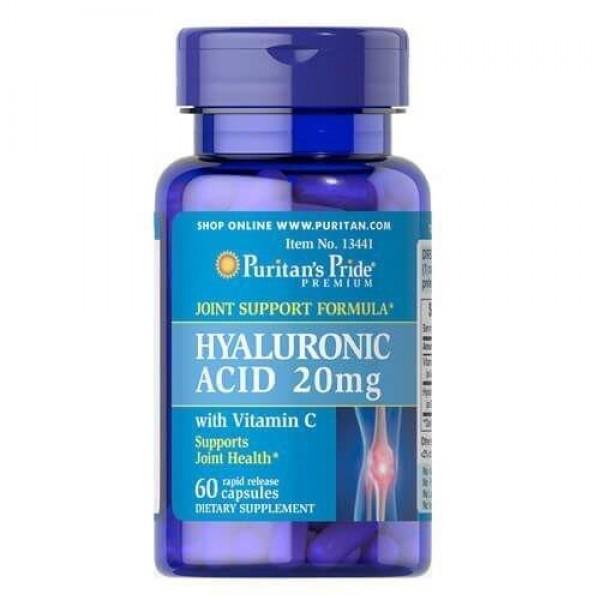 Гіалуронова кислота, Hyaluronic Acid, Puritan's Pride, 20 мг, 60 капсул