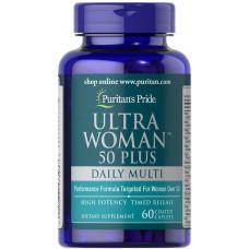 Мультивітаміни для жінок ультра 50+, Ultra Woman Multi-Vitamin, Puritan's Pride, 60 капсул