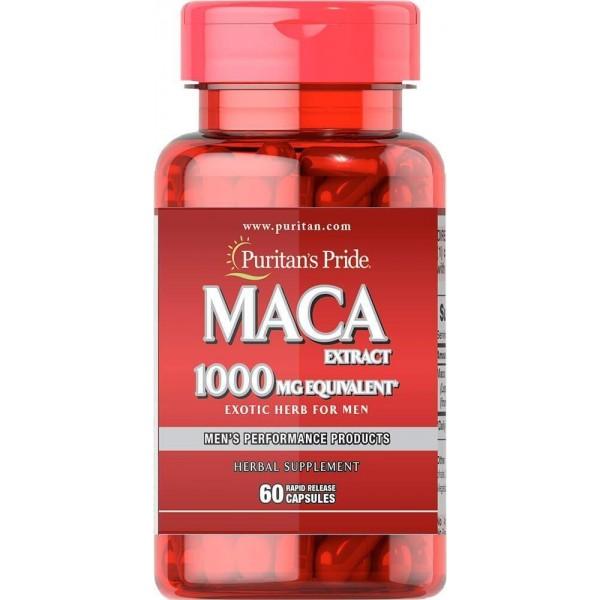 Мака для чоловіків, Maca Herb for Men, Puritan's Pride, 1000 мг, 60 капсул