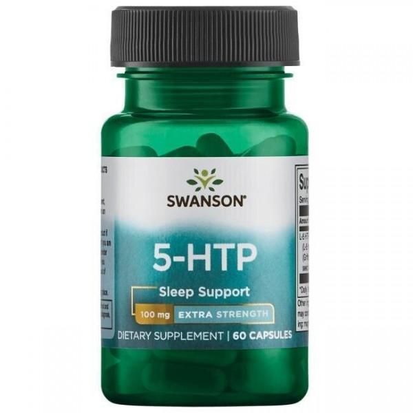 5-НТР екстра сила, 5-HTP Extra Strength, Swanson, 100 мг, 60 капсул
