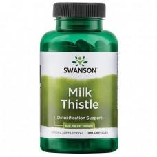 Розторопша, Milk Thistle, Swanson, 500 мг, 100 капсул