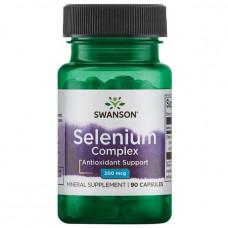 Селен, Ultra Selenium Complex, Swanson, 200 мкг, 90 капсул