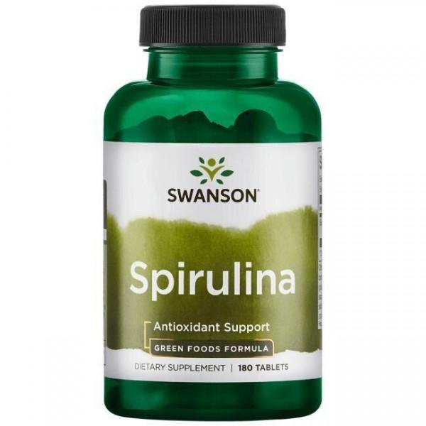 Спіруліна, GreenFoods, Swanson, 500 мг, 180 таблеток