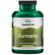 Куркума, Turmeric, Swanson, 720 мг, 240 капсул