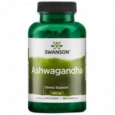 Ашвагандха, екстракт кореня, Ashwagandha Root Dried Powder, Swanson, 450 мг, 100 капсул