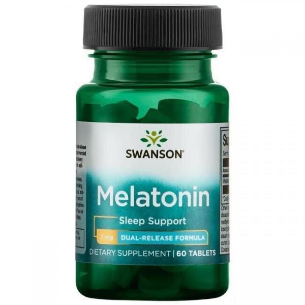 Мелатонін, Ultra Melatonin, подвійне вивільнення, Swanson, 3 мг, 60 таблеток
