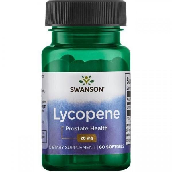 Лікопін, здоров'я простати, Lycopene, Swanson, 20 мг, 60 гелевих капсул