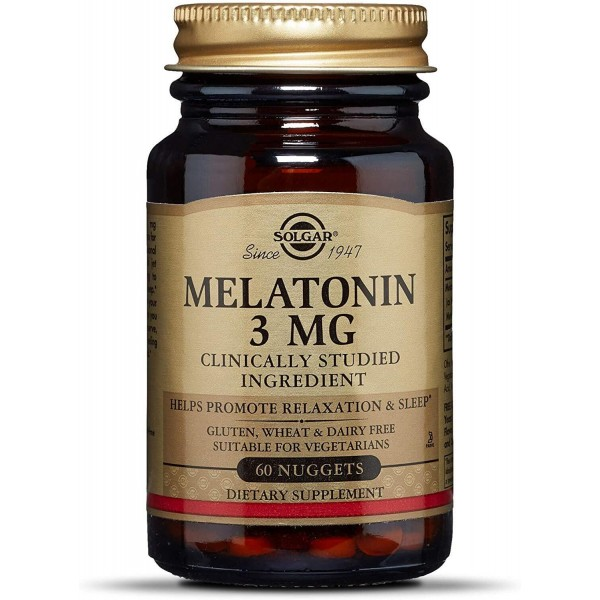 Мелатонін, Melatonin, Solgar, 3 мг, 60 таблеток