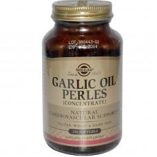 Часникове масло (Garlic Oil Perles), Solgar, концентрат, 250 капсул