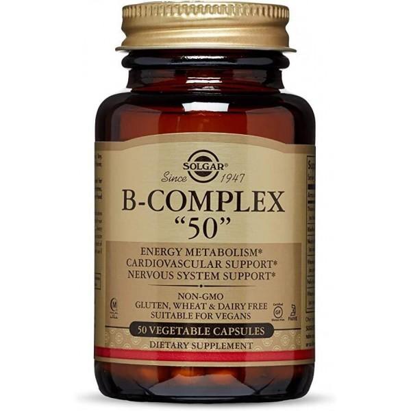"""Вітаміни В-комплекс, B-Complex """"50"""", Solgar, 50 капсул"""
