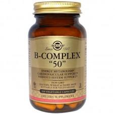 """Вітаміни В-комплекс, B-Complex """"50"""", Solgar, 100 капсул"""
