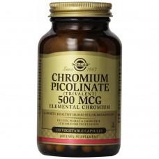 Хром піколінат, Chromium Picolinate, Solgar, 500 мкг, 120 капсул