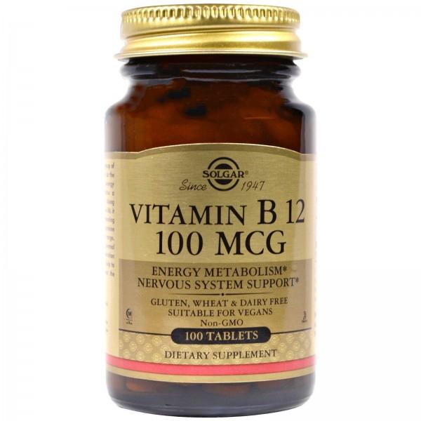Вітамін В12, Vitamin B12, Solgar, 100 мкг, 100 таблеток