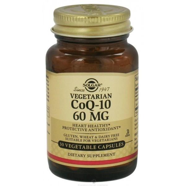 Коензим Q10, CoQ-10, Solgar, 60 мг, 30 капсул
